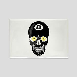 Billiards Pool Skull Rectangle Magnet