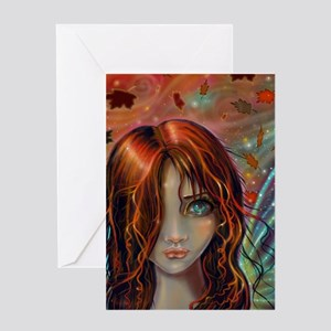 Magic of Autumn Fairy Fantasy Art Greeting Cards