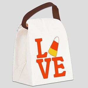 Halloween Love Candy Corn Canvas Lunch Bag