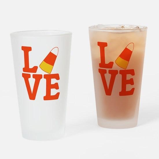 Halloween Love Candy Corn Drinking Glass