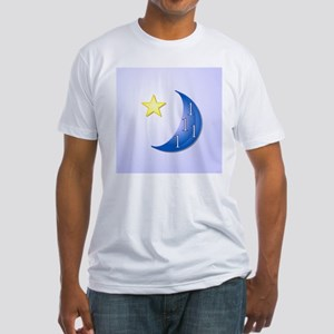 Once in a Blue Moon with Yellow Sta Fitted T-Shirt