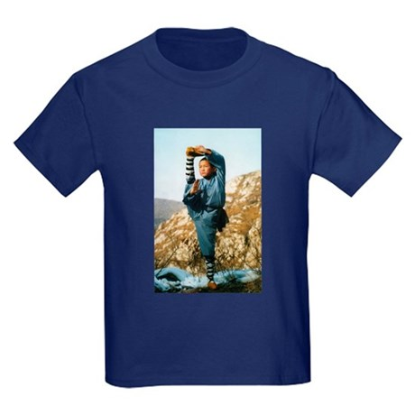 Shaolin Temple Monk Kids Dark T-Shirt