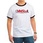 WAWSL Unisex Ringer Tee (black or red)