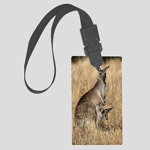 Kangaroos in Australian Bush Large Luggage Tag