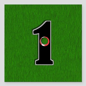 """Lucky Golf Hole in One Square Car Magnet 3"""" x 3"""""""