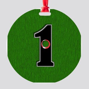 Lucky Golf Hole in One Round Ornament