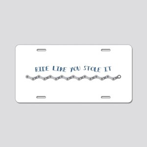 Ride like you slope it Aluminum License Plate