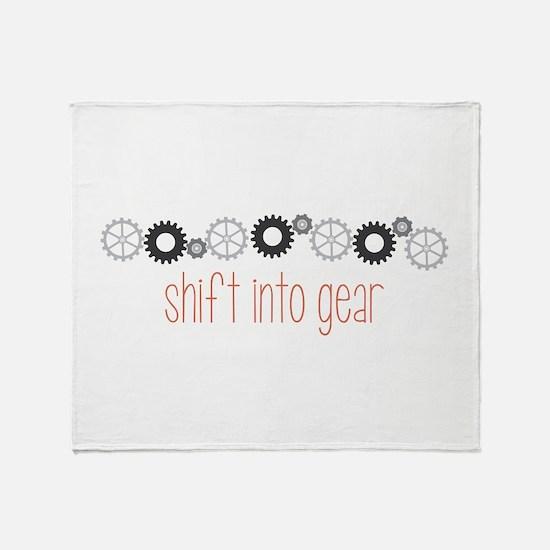 Shift into Gear Throw Blanket