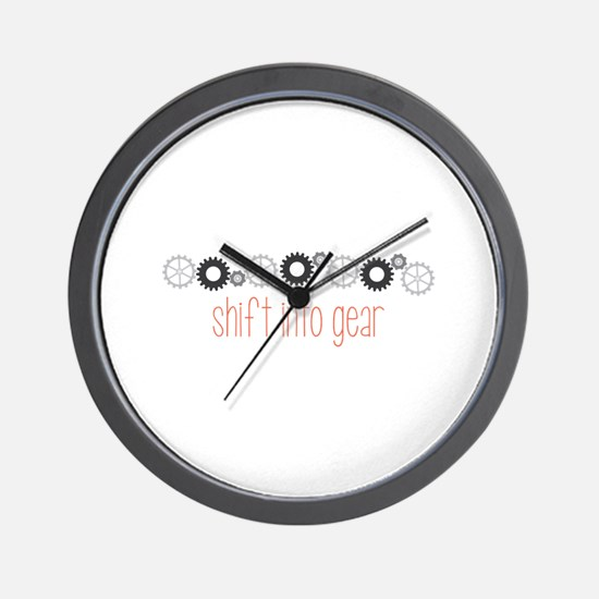 Shift into Gear Wall Clock