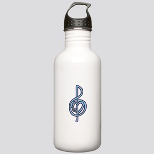 Treble Clef Entwined w Stainless Water Bottle 1.0L
