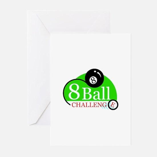 Billiards Pool 8-Ball Challenge Greeting Cards (Pa