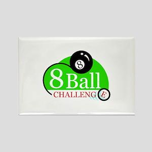 Billiards Pool 8-Ball Challenge Rectangle Magnet
