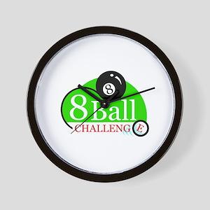 Billiards Pool 8-Ball Challenge Wall Clock