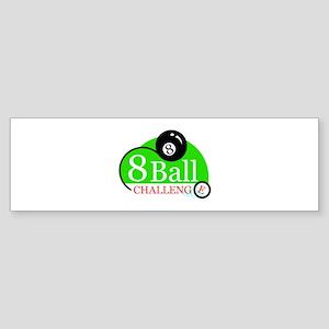 Billiards Pool 8-Ball Challenge Bumper Sticker