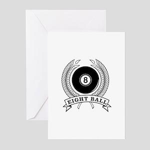 Billiards Pool 8-ball Greeting Cards (Pk of 10