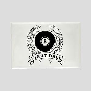 Billiards Pool 8-ball Rectangle Magnet
