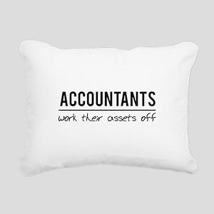 Accountants work assets off Rectangular Canvas Pil