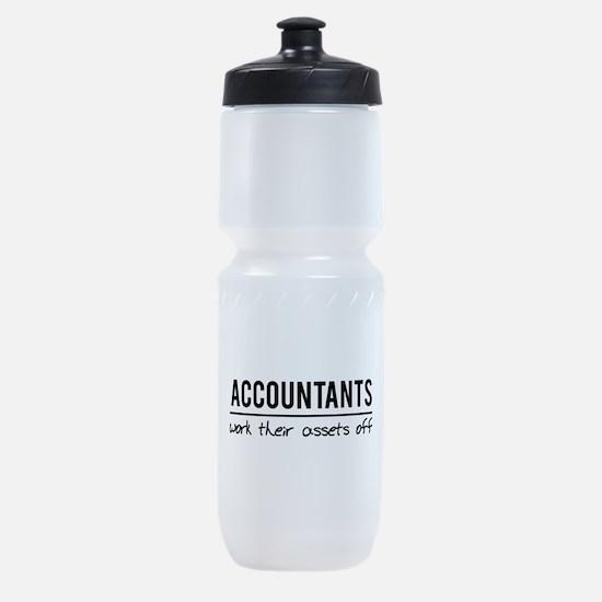 Accountants work assets off Sports Bottle