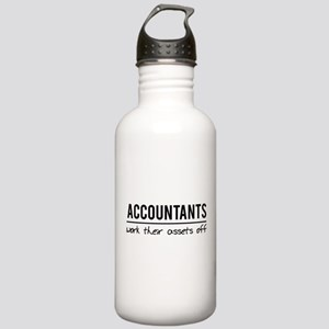 Accountants work assets off Water Bottle
