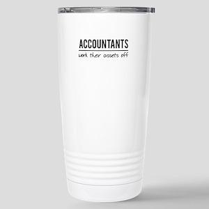 Accountants work assets off Travel Mug