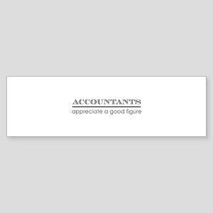 Accountants good figure Bumper Sticker