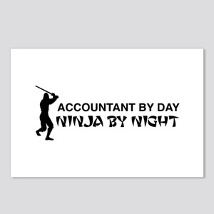 Accountant ninja Postcards (Package of 8)