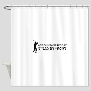 Accountant ninja Shower Curtain