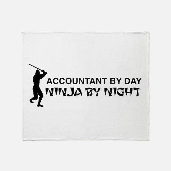 Accountant ninja Throw Blanket