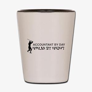 Accountant ninja Shot Glass