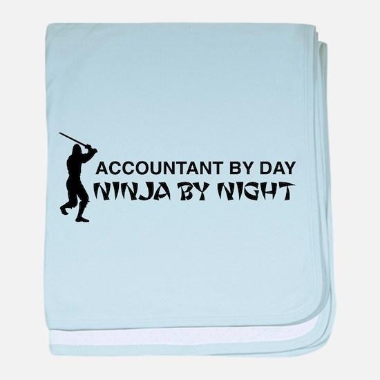 Accountant ninja baby blanket
