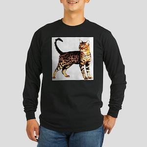 Bengal Cat: Raja Long Sleeve Dark T-Shirt