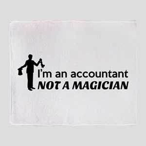Accountant not magician Throw Blanket