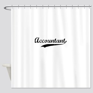 Accountant swoosh Shower Curtain
