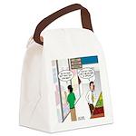 Men Shopping Canvas Lunch Bag