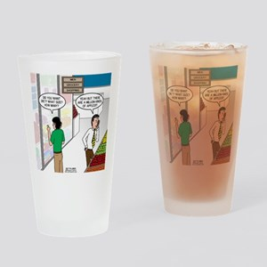 Men Shopping Drinking Glass