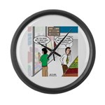 Men Shopping Large Wall Clock