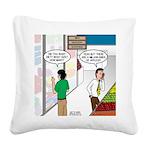 Men Shopping Square Canvas Pillow