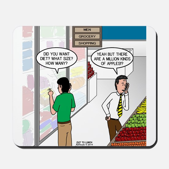 Men Shopping Mousepad