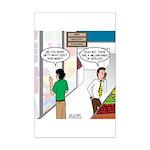 Men Shopping Mini Poster Print