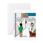 Men Shopping Greeting Card