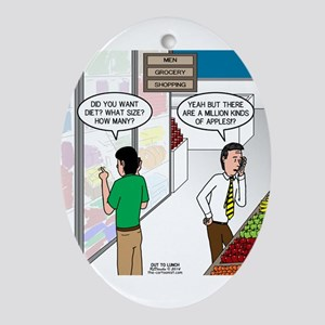 Men Shopping Ornament (Oval)