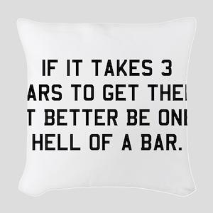 Bar exam Woven Throw Pillow