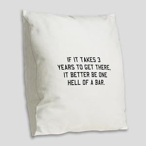 Bar exam Burlap Throw Pillow