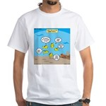 Fish School Break White T-Shirt