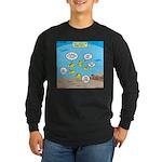 Fish School Break Long Sleeve Dark T-Shirt