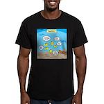 Fish School Break Men's Fitted T-Shirt (dark)