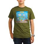 Fish School Break Organic Men's T-Shirt (dark)