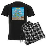Fish School Break Men's Dark Pajamas