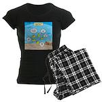 Fish School Break Women's Dark Pajamas