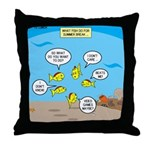Fish School Break Throw Pillow